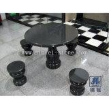 طبيعيّة حجارة صوّان رخام طاولة وكرسي تثبيت