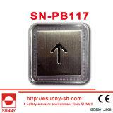 Edelstahl Push Button für Elevator (SN-PB117)