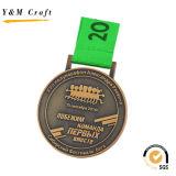 Weiche Decklack-Silber-Überzug-Medaille für Preis Ym1171
