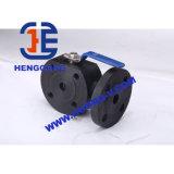 Valvola a sfera pneumatica a tre vie di galleggiamento dell'azionatore dell'acciaio di getto di API/DIN/JIS