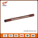 銅は電光生産と通された地上の接地鋼鉄棒をめっきした