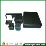 Contenitore di monili di cuoio di lusso stampato marchio su ordinazione dell'unità di elaborazione