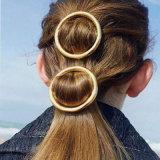 Gancho de cabelo redondos do metal do grampo de cabelo da Ouro-Cor européia & americana da forma