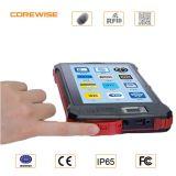 Tableta industrial con el explorador del código de barras del lector de tarjetas de la huella digital RFID