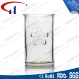 tasse en verre de la vente 180ml chaude avec la fleur (CHM8016)