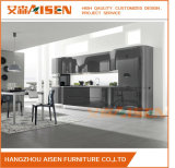 Il disegno moderno nero personalizza l'armadio da cucina della lacca