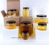 tarro de cristal 400ml para la miel del almacenaje, alimento, salmuera, botellas de cristal
