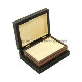 Doos van de Gift van de Ring van de Juwelen van de douane de Houten voor de Vertoning van Ringen (Echt Hout)