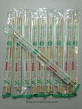 Baguettes en bambou remplaçable de paquet d'OPP
