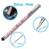 Пер 2 Stylus в 1 пер Ballpoint Rose Stylus для оборудования панели касания