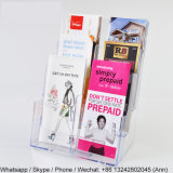 4 карманный акриловый стеллаж для выставки товаров кассеты и газеты стоящие/держатель брошюры
