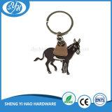 Lembrança macia personalizada forma Keychain do metal do esmalte do cavalo