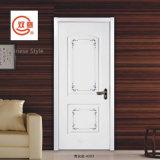 Классицистическая дверь белизны PVC/MDF реальная деревянная