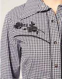 Camicia lunga delle donne del manicotto misura cotone dell'assegno di modo del Ladie