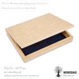 Hongdao natürliche Farben-hölzerner Geschenk-Kasten mit kundenspezifischem Firmenzeichen graviertem _E