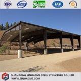 牧場のために取除かれる鉄骨構造