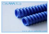 De blauwe Spiraalvormige Buis van pvc