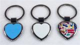 Porte-clés blanc en forme de coeur de sublimation de cadeaux de promotion