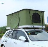 Tente dure se pliante de dessus de toit de camping-car de famille de fibre de verre d'interpréteur de commandes interactif avec la tente