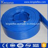 Boyau résistant de PVC Layflat de température élevée colorée jaune bleue
