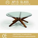 가구 테이블을%s 청동에 의하여 색을 칠하는 원형/둥근 모서리를 깎아낸 비스듬한 가장자리 강화 유리
