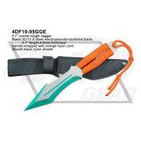 9.7inch電気泳動の刃の戦術的な短剣の青いナイロンコードが付いている固定刃のナイフ