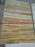 Königliche Polierjade-weißer natürlicher Steinbruch-Gelb-Marmor