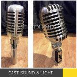 Micrófono dinámico cardi3odico del nostálgico de la serie II Elvis de Shur 55sh