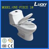 Toilette en céramique monopièce chaude de carte de travail avec Saso/Ce