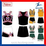 Формы трикотажных изделий Cheerleading сублимации краски оптовой продажи команды Healong полные