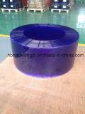 Cortina transparente estándar de la tira del PVC del azul