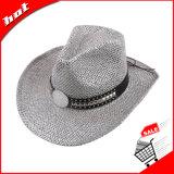 Chapéu de palha de papel unisex do vaqueiro da trança de papel