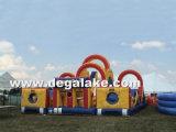 Corsa ad ostacoli gonfiabile di sbalzo di Extrme per il parco di divertimenti