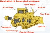 中国製SaleのためのHydraulic International Compact Crawler Bulldozer