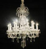 Iluminación ligera del hotel de Hangling de la iluminación de la lámpara pendiente cristalina del imperio