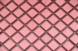 Tuiles en verre rouges métalliques