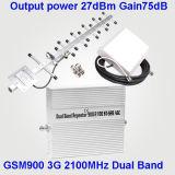 GSM900와 WCDMA2100 셀룰라 전화 승압기를 위한 2g 3G 듀얼-밴드 승압기