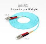 Connecteur duel de la fibre LC de la qualité 10g de cordon de connexion de la fibre Om3