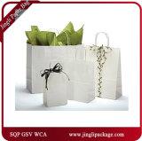 Sac à provisions fait sur commande de cadeau de papier d'emballage de clients bleus de compartiment de mission pour le vêtement Packling