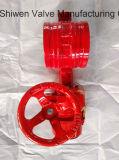 Клапан-бабочка вафли шестерни чугуна для бой пожара