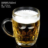 A caneca de cerveja/cerveja colocam/vidro de cerveja de vidro certificados ISO