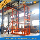 2017 New Design Goods Lift Vertical Hydraulic Guide Rail Lift