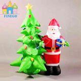 Aufblasbarer Weihnachtsbaum und Weihnachtsmann kombiniertes Weihnachtsgeschenk