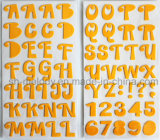 ScrapbookingおよびCardmakingのための多色刷りの大きいアルファベットの泡のステッカー