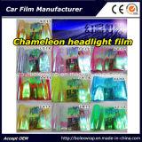 Film de phare de caméléon de mode, film de teinture léger de véhicule