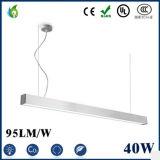 36W 40W 48W LED UL 세륨 Rhos를 가진 선형 빛 1.2m 1.5m 2m LED 높은 만 빛 LED 고정편 관