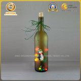 A impressão decorada 750ml da tela projetou o frasco de vinho para o presente do Natal (590)
