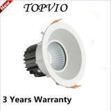 Venta caliente 10W15W / 20W / 30W / 40W COB LED Down iluminación LED de luz
