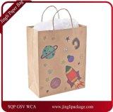 Выдвиженческие мешки упаковывая мешки хозяйственную сумку, мешок подарка бумаги Brown Kraft, хозяйственную сумку с логосом печати или конструкцию
