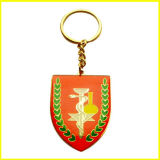 Keyring Shaped chapeado ouro da serpente do protetor